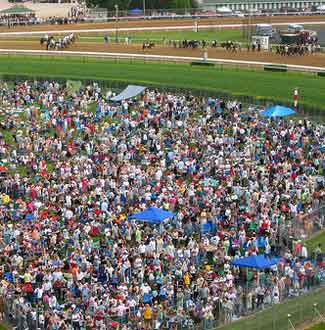 Churchill Downs infield party