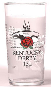 Kentucky Derby souvenir glass