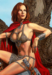 Another buxum warrior babe in a chainmail bikini