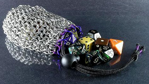 chain mail bag of dice